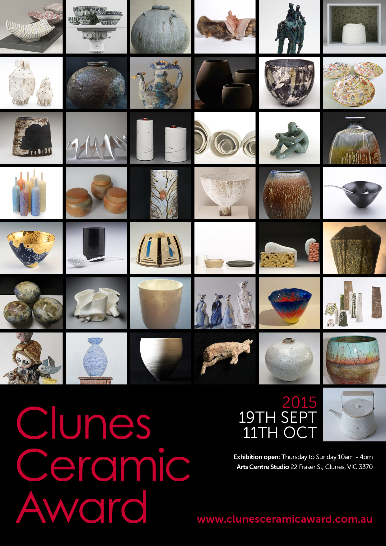View the works of the 2015 Clunes Ceramic Award Finalists online