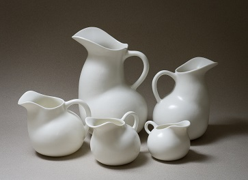 Clunes Ceramic Award - Winner 2017 -   Pearl Jugs, 2017 - by Vanessa Lucas